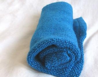 Sustainably Soft Bamboo Washcloths, Blue