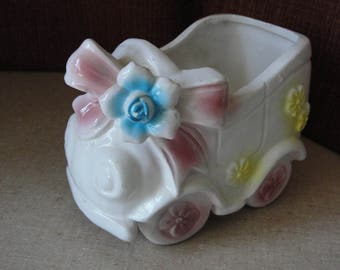 Vintage Rubens Jalopy baby planter Made in Japan 1950-60s