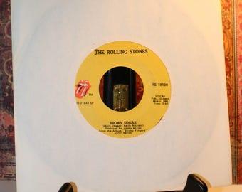 Rolling Stones 45 RPM Vinyl Record - Brown Sugar - Mick Jagger