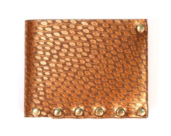 Copper Ostrich Wallet | Mens Wallet | Wallet | Bi-Fold | Card Holder | Durable Wallet | Money Holder | Wallet | Vegan Wallet | Made in USA