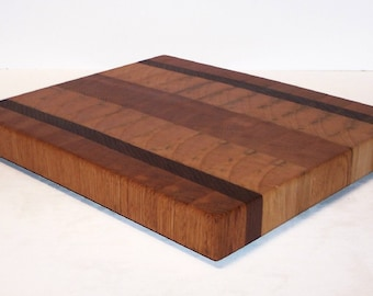 OOAK END GRAIN Cutting Board / Chopping Block Handcrafted from Oak, Maple and Walnut Hardwoods