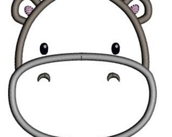 Hippo applique shirt