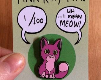 Pink Kitty hard enamel pin