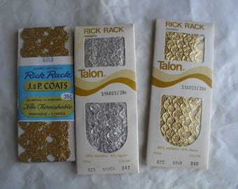 Rick Rack Metallic NOS unopened Silver Gold