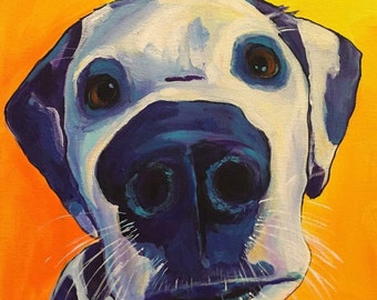 Custom pet portrait  painted from your photos