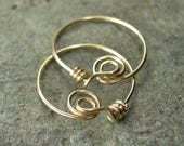 Tiny White Pearl / 14K Gold-Filled Hoops