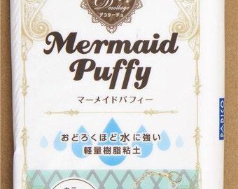 165821 white waterproof Decollage clay Mermaid Puffy Japan