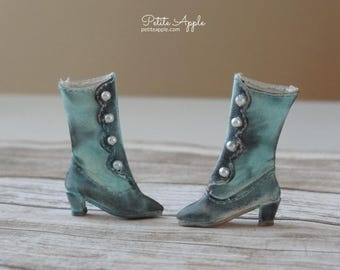 Victorian Boots OOAK for Blythe dolls (all bodies) and others with up to 3cm feet - Wind swept