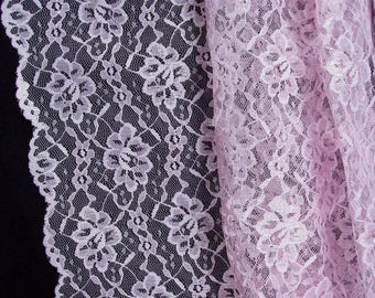 "Beautiful Pink Barcelona Lace by Rosebar/Pago Wedding Costume Formal 60"" wide BTY"