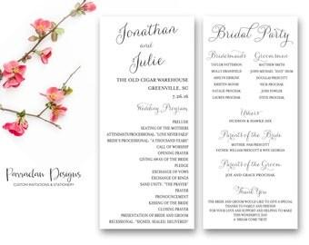 Wedding Program | Wedding Program Cards | Wedding Program Sign {FS01}