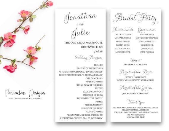 Wedding Program   Wedding Program Cards   Wedding Program Sign {FS01}