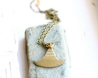 ON SALE SALE - White Patina Pendant Necklace Lined Pendulum Tribal Axe Medieval Boho Jewellery