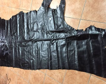 A huge dark chocolate brown leather hide - total of 20 plus square foot