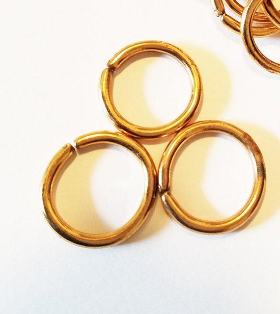 3 vintage jump rings jumprings hoops 25 mm hoop metal jewelry supplies findings