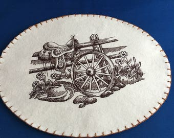 Embroidered western theme