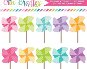 50% OFF SALE Instant Download Pinwheels Clipart Clip Art for Personal & Commercial Use Digital Designs