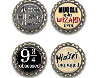 Potter Fan Magnet Set, Bookworm, Thank You Gift, Bookish Gifts, Gifts for Booklovers, Librarian Gift, Teacher Gift, Read, Books, Quotes