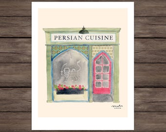 Persian Cafe Giclee Print