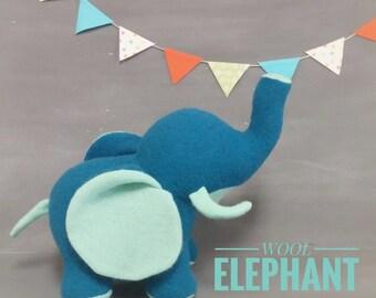 Wool Elephant, Handmade, Stuffed Animal, Toy, Children, Plush