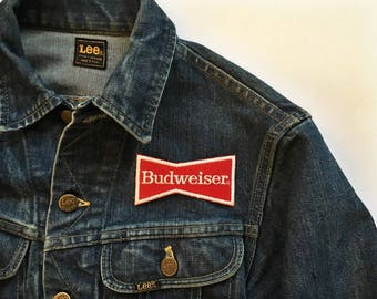 Vintage Budweiser Bud Beer Embroidered Patch