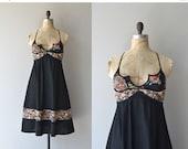 25% OFF THE SHOP... Lindisfarne dress • vintage 1970s black floral dress • Young Edwardian 70s dress