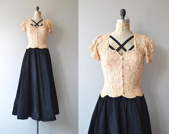 Meilleurs Amies gown | vintage 1930s dress | formal lace 30s dress