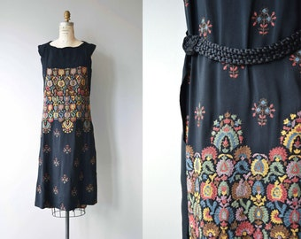 Tatjana embroidered dress | vintage 1920s dress | embroidered silk 20s dress