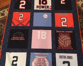 Tshirt Memory Quilt with your choice 15 T shirts
