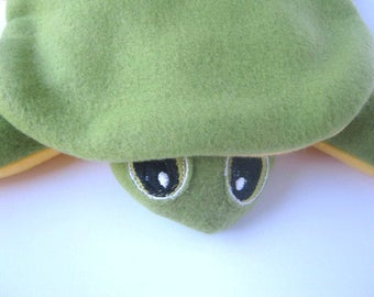 """Green Turtle 12"""" Toy Soft  Stuffed Animal Infant Toy No Buttons Plush Travel Toy Nursery Softee Comfort Toy"""