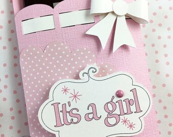 Kit Baby Shower Party Favor / Candy Bar Wraps / Thanks for coming Party Favor / It's A Girl / Hershey Chocolate Bar / Candy Bar Wrappers
