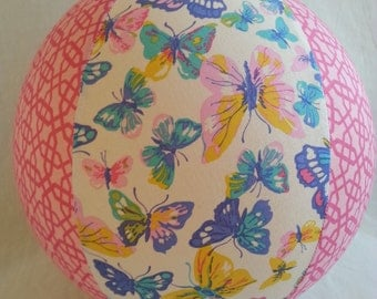 Fabric Balloon Ball Cover - TOY - Beautiful Butterflies - as seen with Michelle Obama on parenting.com