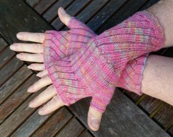 Fingerless Mittens,  Fingerless Gloves,  Hand warmers. Hand Knit