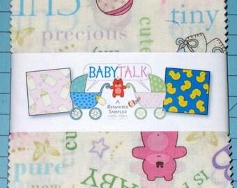 "Benartex - Baby Talk Nursery Prints - (40) 5""  Precut Fabric Squares"