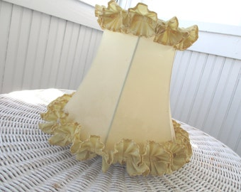 Vintage Lampshade * Lamp Shade * Shabby Chic * Cottage Ruffles