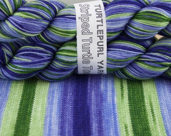 Iris - Hand-dyed Self-striping sock yarn