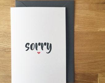 sorry card - i'm sorry - greeting card