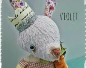 Primitive Grimitives Bunny Rabbit Doll VIOLET