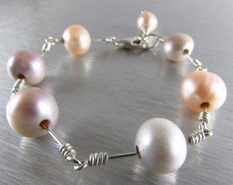 25OFF Modern Pearl Bracelet With Sterling Silver