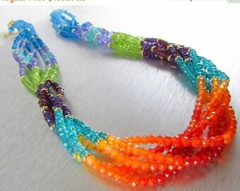 25% Off Colorful Multi Strand Gemstone Necklace