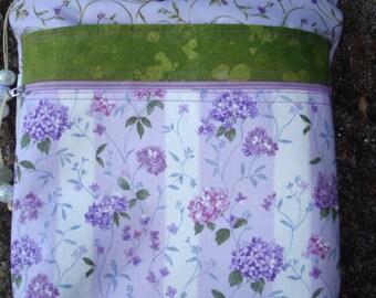 Purple Floral Cross Body Bag Purse