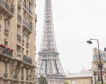 Paris Photography, Eiffel Tower View, Paris in the Springtime, Paris Wall Art, Paris Home Decor, Print Shop, Francophile Art, Architecture
