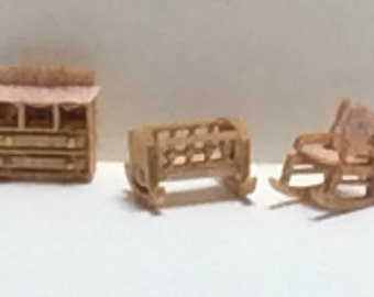 New - 144th Inch Scale Furniture Kits Traditional Style Nursery
