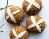 4 pack felt mini pretzel rolls