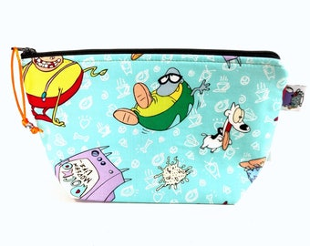 Zippered NOTIONS BAG with zipper pull - Rocko's Modern Life