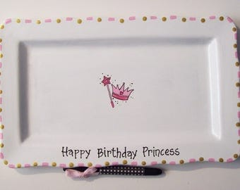 Ceramic Signature  Plate- PRINCESS