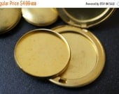 DECEMBER SALE Brass Dish Inserts for Perfume or Cream For Round Brass Lockets - For 20mm - 20 pieces