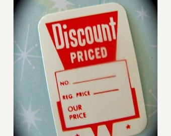 ONSALE One Dozen Darling Little Vintage Retro Price Tags