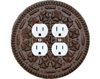 Chocolate Sandwich Cookie Double Duplex Outlet Plate Cover