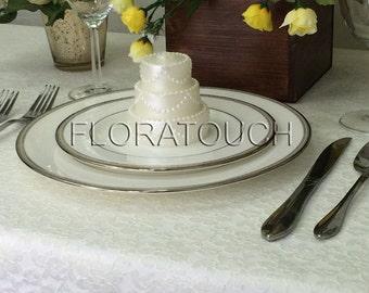 Ivory Lace Wedding Table Overlay