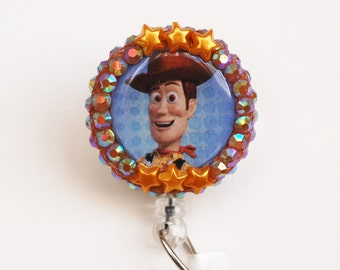 Toy Story's Woody ID Badge Reel - Retractable ID Badge Holder - Zipperedheart